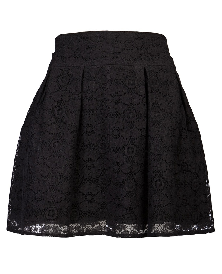 Satine - Short Lace Skirt in black