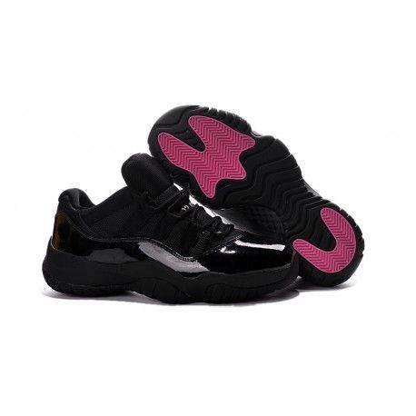 timeless design 0b855 3ce5d  81.00 air jordan xi low,2017 Air Jordan 11 Low Black Pink Lovers Shoes For