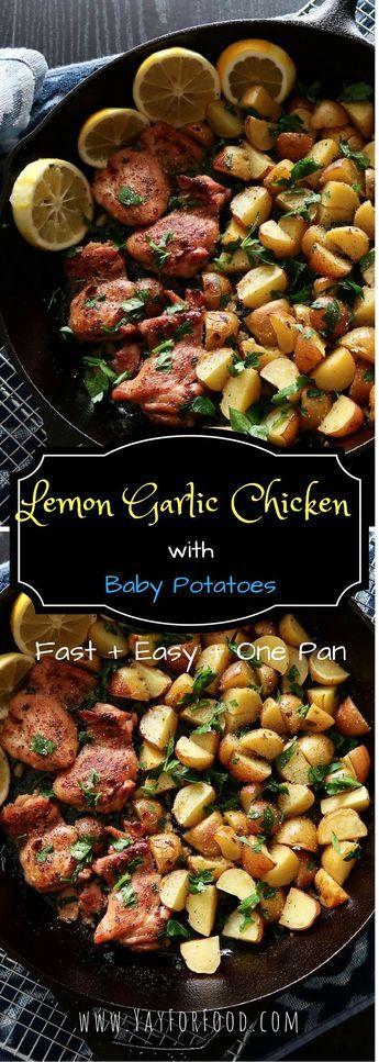 Lemon Garlic Chicken with Baby Potatoes
