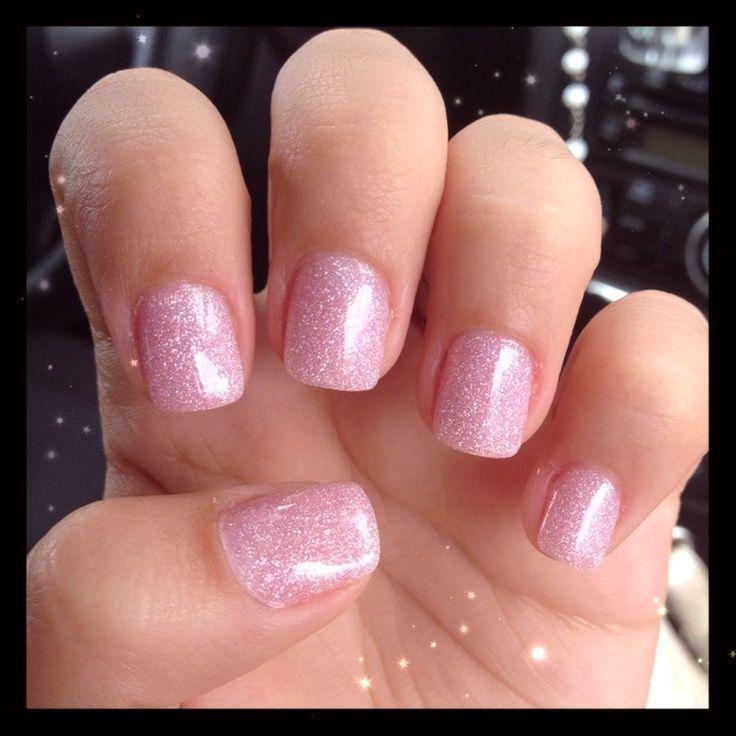 cute acrylic nails manicure pink