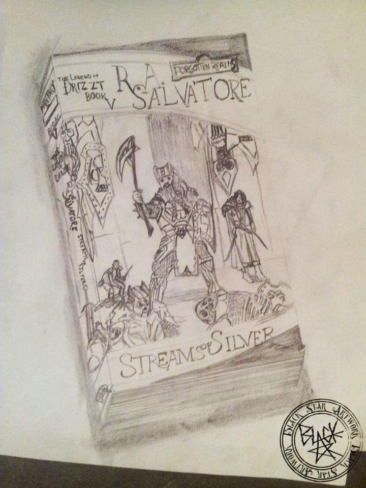 "R.A. Salvatore's Book V ""Legend of Drizzt: Steams of Silver""  Drawing on paper Black Star Artwork by Leonard Walsh  www.facebook.com/BlackStarArtwork http://bit.ly/1bCN2xI"