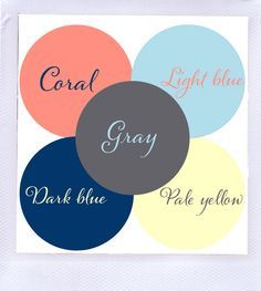light blue, navy blue, coral - Google Search