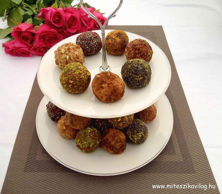 Változatos datolyagolyók egyszerűen, akár az ünnepi asztalra is (gluténmentes, laktózmentes, tojásmentes, nyers vegán) / Recept / datolya, útifűmaghéj vagy chia mag,   darált mandula / narancshéj / dió és 6 másik ízesítés