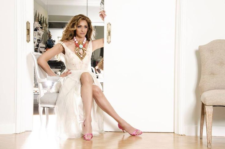 "Vicky Koulianou wears the ""Elixir"" collection Photo: Penelopi Massouri Jewellery :The ""Elixir of life"" by Pericles Kondylatos Garments: Vassilis Zoulias"