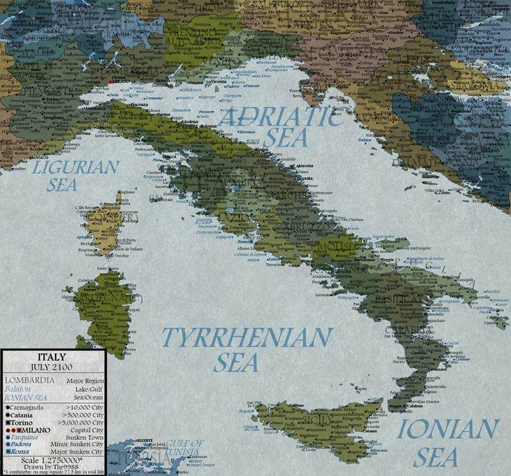 La mappa dell'Italia nel 2100 - Corriere.it