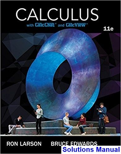 Calculus 11th Edition Larson Solutions Manual Solution