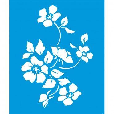 Stencil Opa 20x25 - Flor Papoulas OPA1333