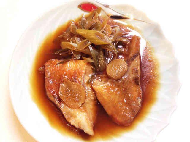 簡単☆冷凍赤魚の煮付けの画像