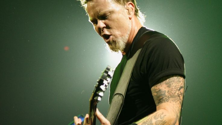 james hetfield playing guitar   ... Metallicas James Hetfield Playing Guitar Desktop Wallpaper Background