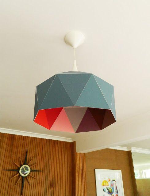 DIY: lámpara de diseño y de cartón                                                                                                                                                                                 Más