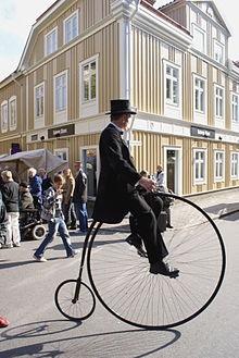 Penny-farthing high wheeler bike