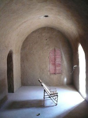 """Nubian Vaults  """"The Nubian Vault technique is an age-old method of timberless vault construction, originating in upper Egypt. It uses only earth bricks and earth mortar. Nubian vaults built over 3,000 years ago at the Ramesseum mortuary temple, Luxor, are still standing."""