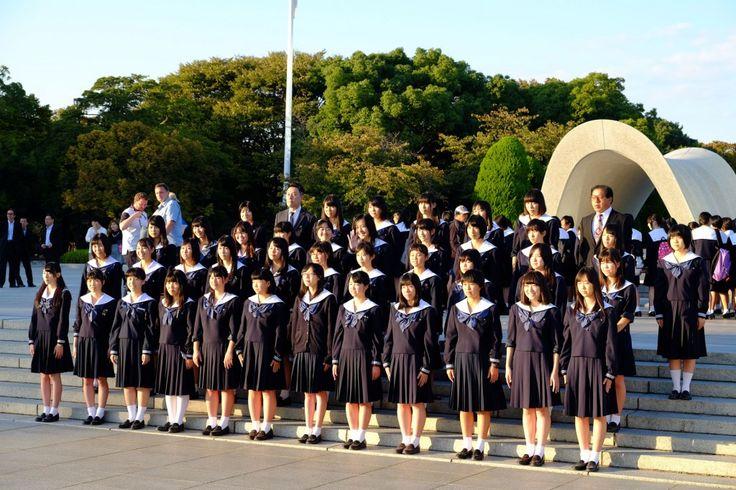 Ecoliers Memorial de la paix Hiroshima