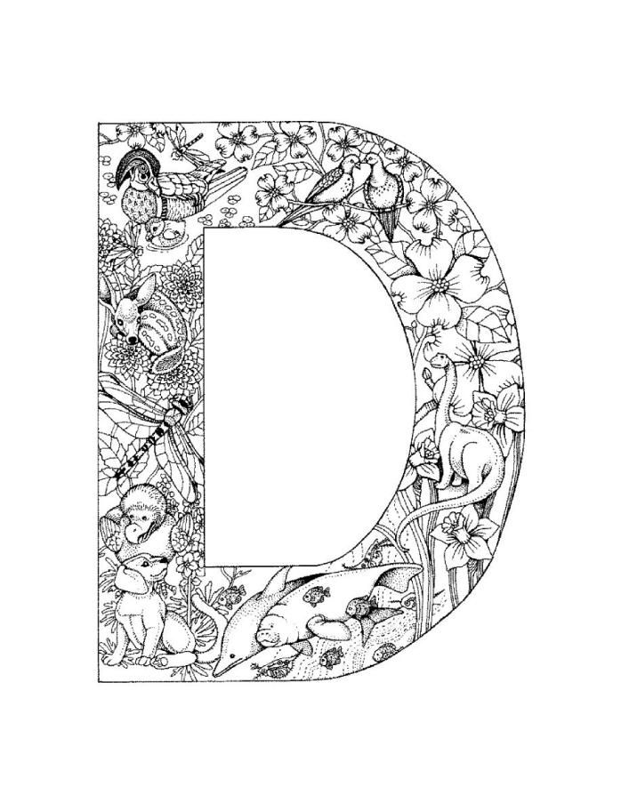 100 best Alphabet coloring images on Pinterest Mandalas