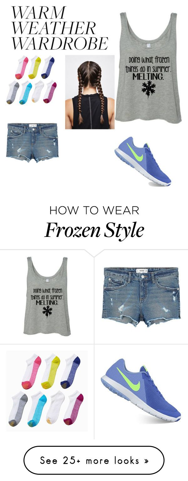 """Untitled #42"" by hdknipp on Polyvore featuring MANGO, NIKE and Gold Toe"