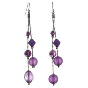cute dangly purple earings