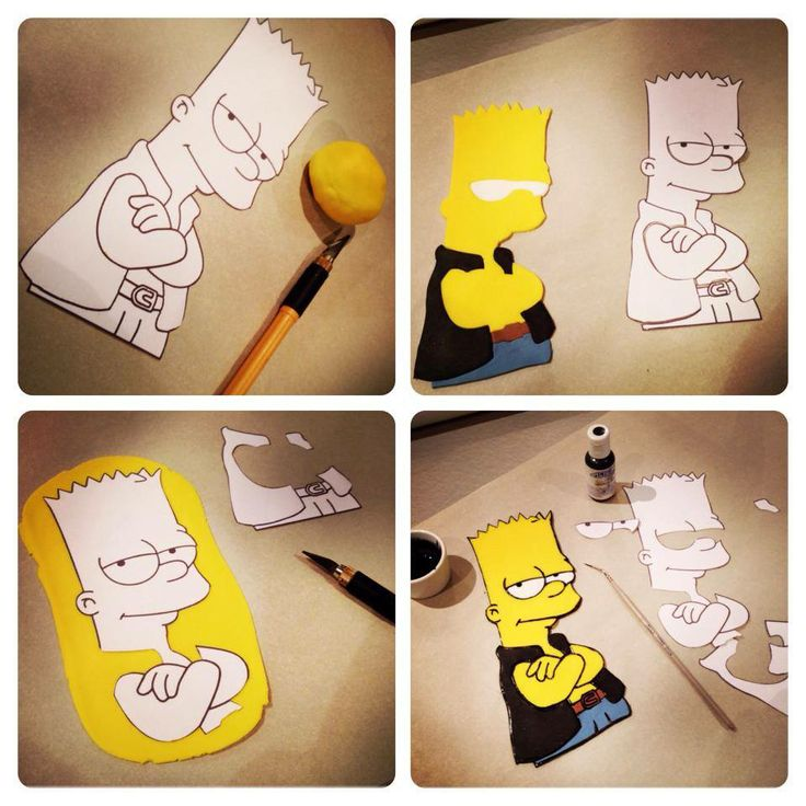LaBKRY Bart Simpson Cake #bart #bartsimpson #cake https://www.facebook.com/LaBKRY Natasha Bouchard