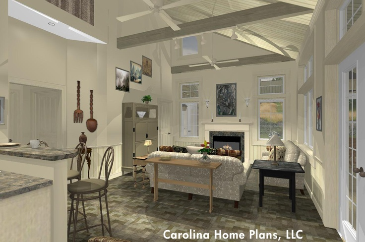 Country Cottage With Open Floor Plan Layout Open Floor