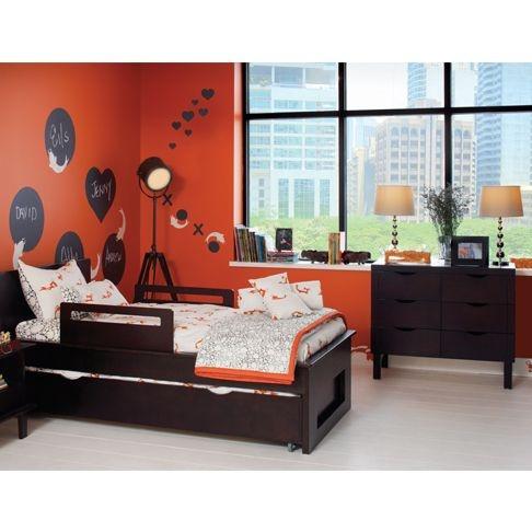 Orange/white/black room!