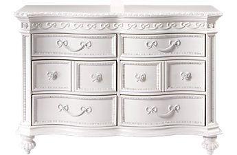 Disney Princess White 6 Drawer Dresser