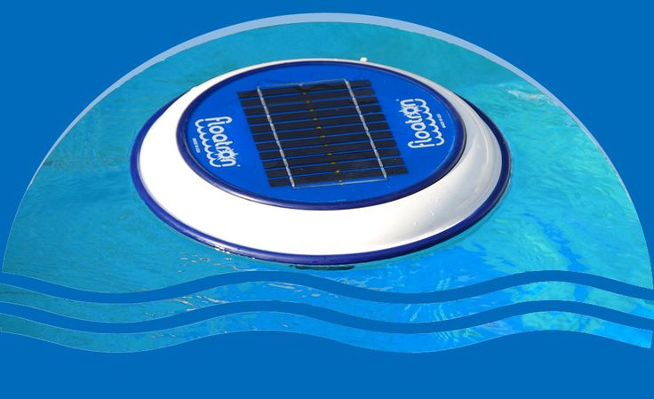 Floatron - solar powered ionizer provides a defense against algae.  It needs a foam collar if it shares a pool with a #Solar-Breeze
