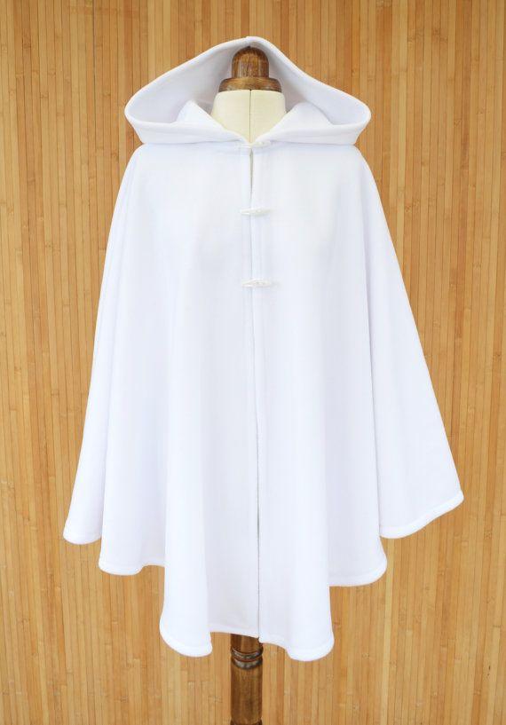 Bianco cappa con cappuccio mantello con cappuccio di DeliCatStudio