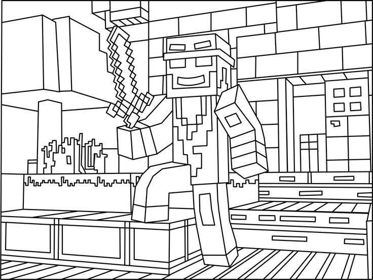 Minecraft Ninja coloring picture
