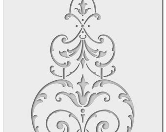 Wall stencil historical spring 0560 by Schablono on Etsy
