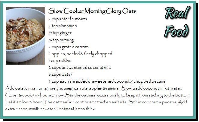 Slow Cooker Morning Glory Oats