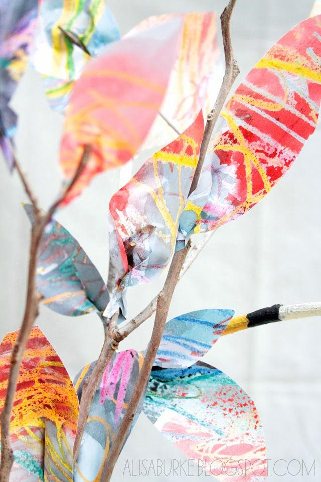 Paper leaves: another cool fall project from Alisa Burke