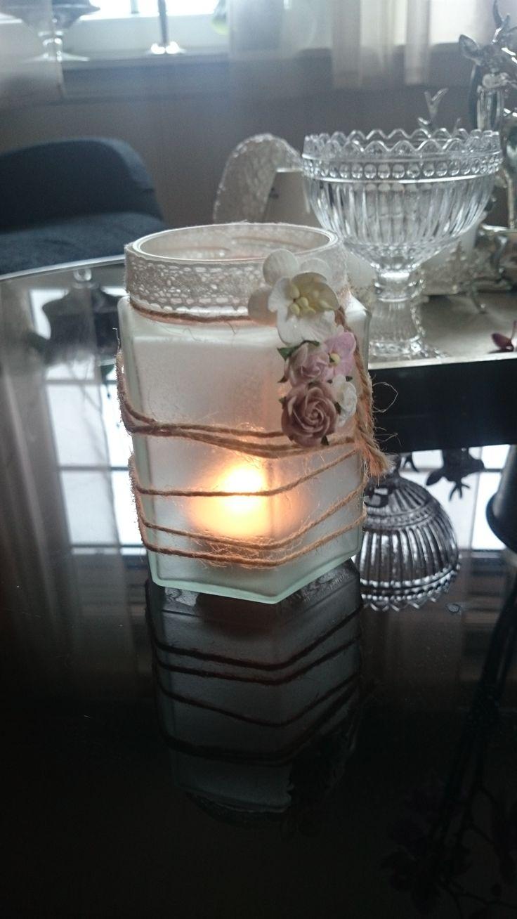 frostet glass med pynt
