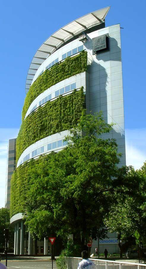 Façade végétalisée au #Chilie #Architecture