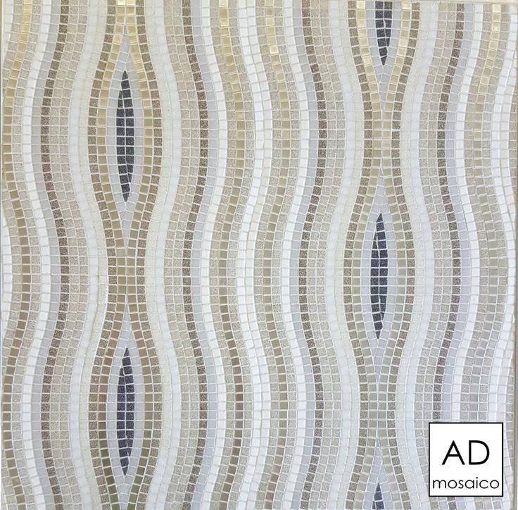 Decoro ETHOS ORO BIANCO mosaico 10x10 mm info@admosaico.com