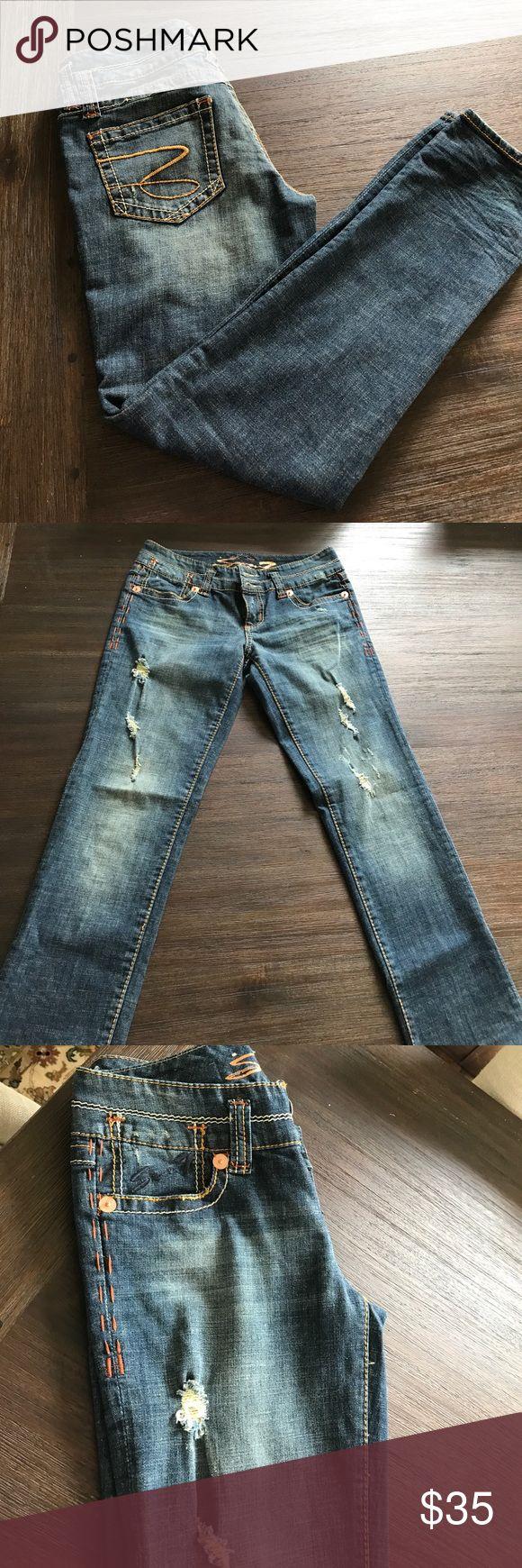On sale Seven 7 slim straight jean Seven 7 slim straight jean, new without tags Seven7 Jeans Straight Leg