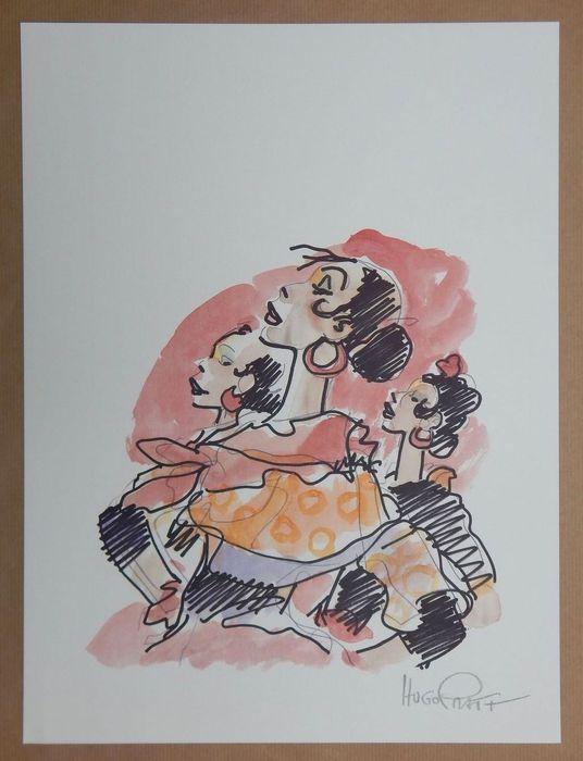 """Pratt, Hugo - Poster """"Corto en Cordoba"""" Corto Maltese - W.B."""