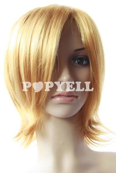 #perruque #courte Perruque femme de 40cm Blond courte perruque cosplay droite
