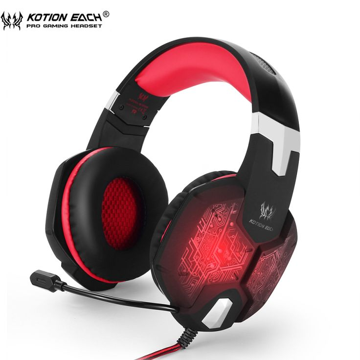 EACH G1000 Deep Bass Gaming Headphone Stereo  Over-Ear Game Headset Headband With Breathing  LED Light For Computer PC Gamer