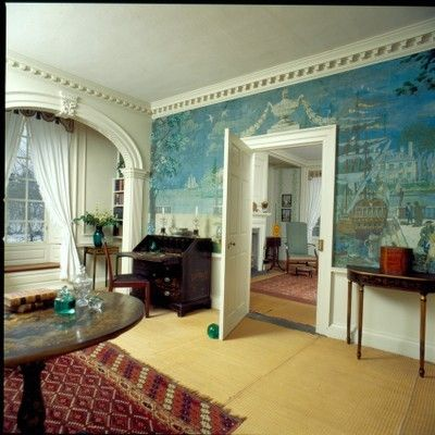 Mural by george porter fernald this mural is based in for Colonial mural wallpaper