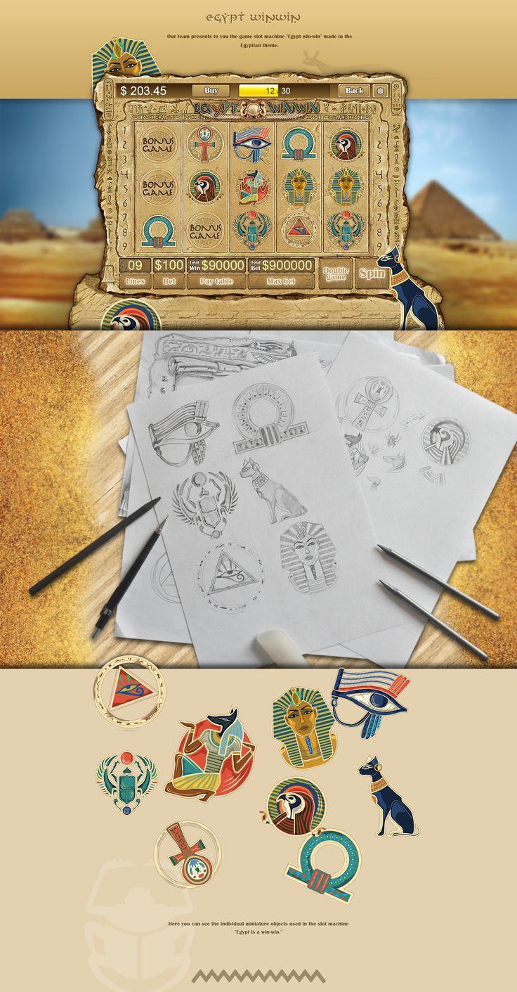 "Development of design for the game slot-machine ""Egypt"""