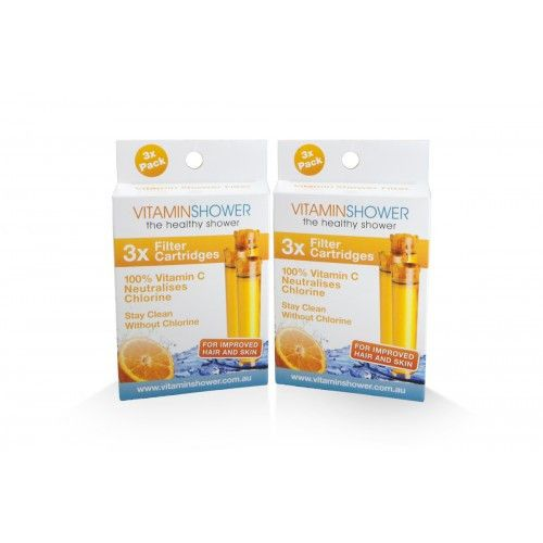 2 X Pack of 3 Vitamin C Shower Filter Cartridges - Water Filter Direct Australia