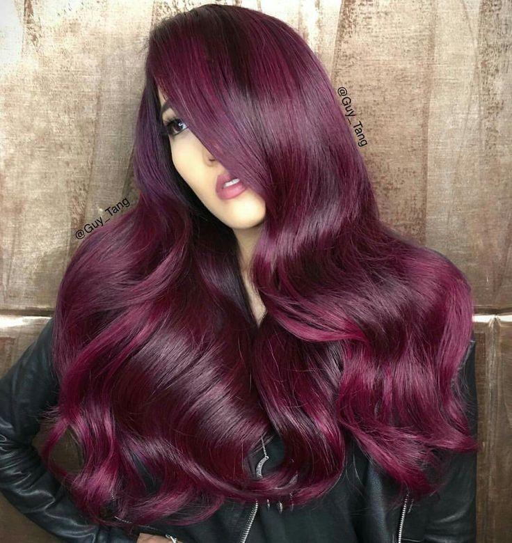 Raspberry hair color