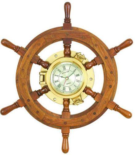 Hare Shipwheel Wall Clock   - Art Van Furniture