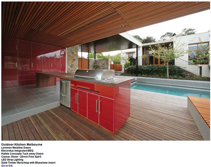 Metaline Alfresco by Melbourne contemporary kitchens.