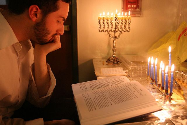 Learning Torah by the light of the Menorah