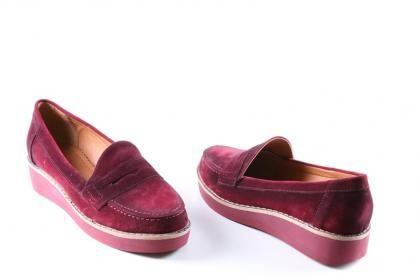 Atiker - Kadın Bordo Ortopedik Günlük Poli Taban Topuklu Ayakkabı