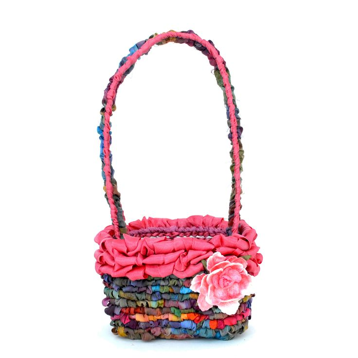 Mini Blossom Basket Locker Hooking Kit - Rose Garden