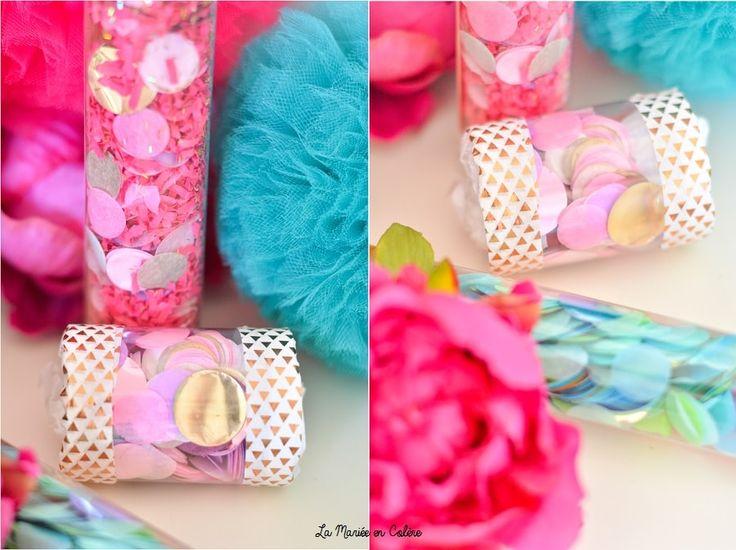 Sur le blog, je vous propose de créer des canons à confettis pour la sortie des mariés après la cérémonie de mariage  DIY #DIY