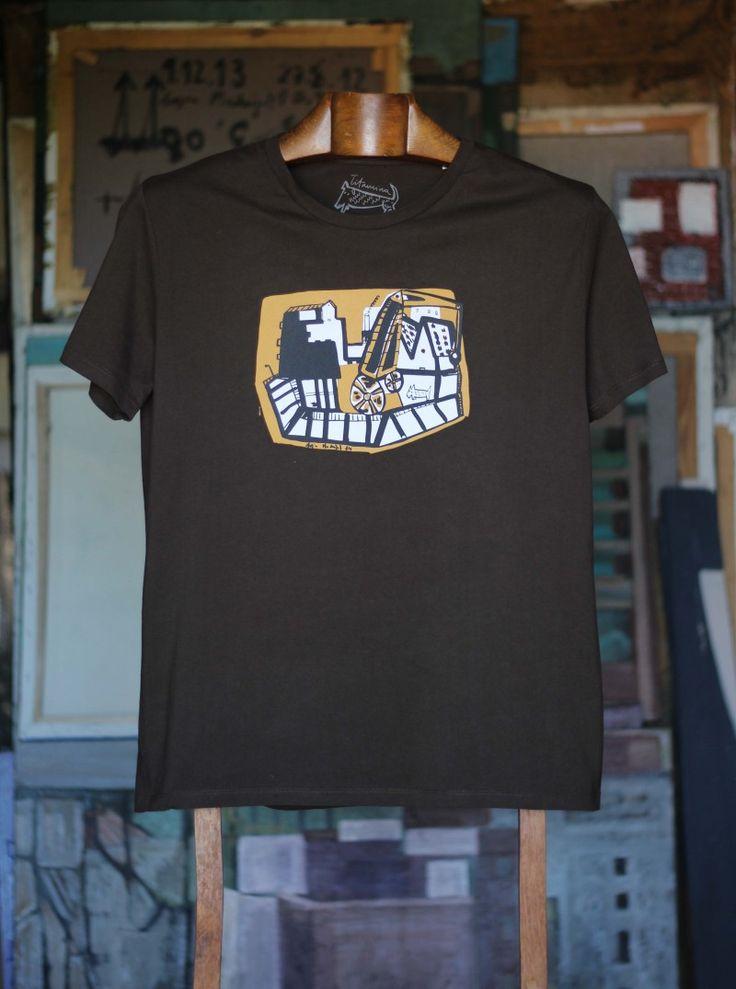 Macizo marrón hombre Camiseta de algodón orgánico 100% 30,00€