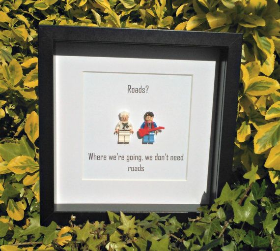 Back to the Future Framed Minifigure Roads We by DanMakesWithLove