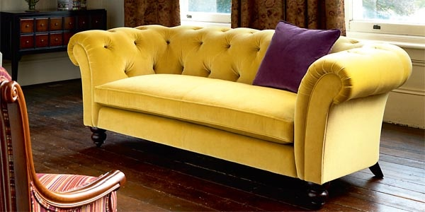 2 seater yellow velvet chesterfield Chesterfield Sofas Pinterest Colors, Chesterfield and